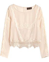 H&M Lace Blouse - Lyst