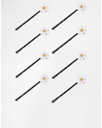 Asos Pack Of 8 Mini Daisy Hair Clips - Lyst