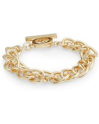 Anne Klein - Out Of The Box Small Link Bracelet - Lyst