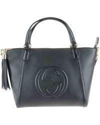 Gucci Soho Shopping In Pelle Nera Info - Lyst