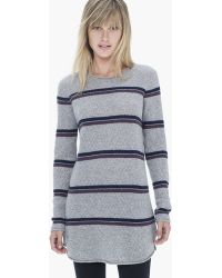 James Perse Cashmere Striped Tunic - Lyst