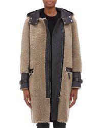 Belstaff Leatherfaced Shearling Ava Coat - Lyst