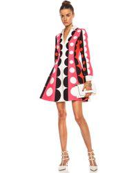 Valentino Crepe Polka Dot Runway Wool Blend Dress - Lyst