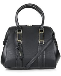 Topshop Smart Leather-Look Holdall - Lyst
