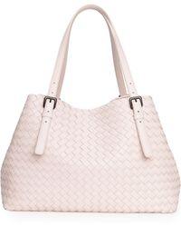 Bottega Veneta A-Shape Woven Tote Bag - Lyst