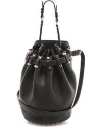 Alexander Wang Diego Bucket Bag with Rose Gold Hardware - Black