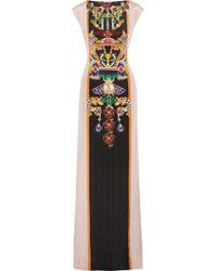 Mary Katrantzou Cassandra Printed Silkcrepe Gown - Lyst