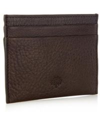 Mulberry Natural Leather Cardholder - Lyst
