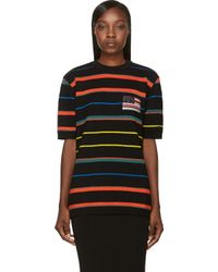 Givenchy Black Wool Color Stripe Sweater - Lyst