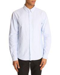 A.P.C. Oxford Button-Down Blue Shirt - Lyst