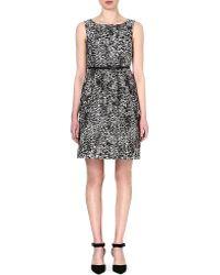 Max Mara Studio Blocco Leopard-print Dress - Lyst