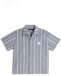 Xander Zhou - Stripe Short Sleeve Shirt - Lyst
