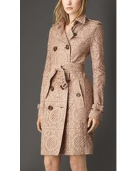 Burberry English Lace Trench Coat - Lyst