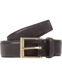 Thom Browne Caviar-grained Leather Belt - Lyst