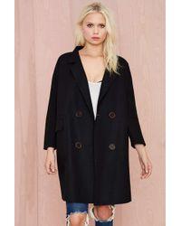 Nasty Gal Tastemaker Wool Coat - Black - Lyst