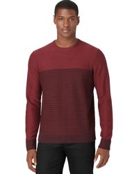 Calvin Klein Red Jacquard Sweater - Lyst