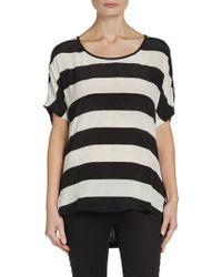 Ella Moss Striped Silk Top - Lyst