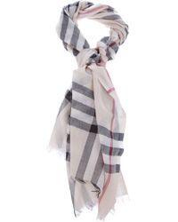 Theory 'House' Check Scarf - Natural