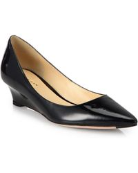 Cole Haan Bradshaw Patent Leather Wedge Pumps - Lyst