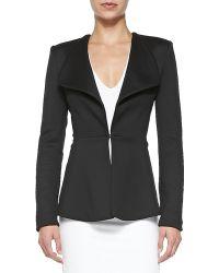 Cushnie et Ochs Shawl-Collar Jersey Jacket - Lyst