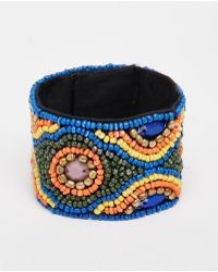 Raga - Beaded Bracelet - Purple - Lyst