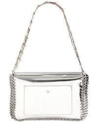 Paco Rabanne Metallic Leather Shoulder Bag - Lyst