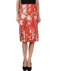 Dolce & Gabbana Knee Length Skirt - Lyst