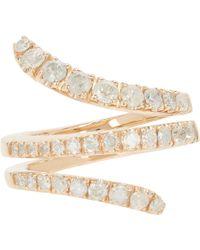Roberto Marroni - Diamond & Red Gold Snake Ring - Lyst