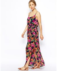 Oasis Tropical Floral Cami Maxi Dress - Lyst