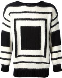 Alexander McQueen Square Knit Sweater - Lyst