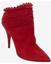 Tabitha Simmons Scallop Edge Bootie - Lyst