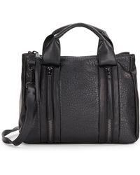 Saks Fifth Avenue Bushwick Zipper Faux-Leather Satchel - Lyst