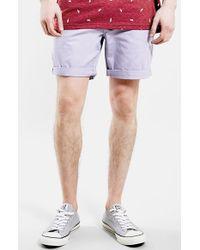 Topman Men'S Lilac Chino Shorts - Lyst