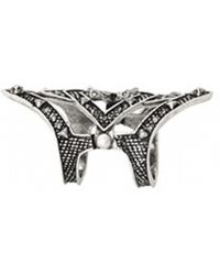 House Of Harlow 1960 Pave Jaws Finger Ring silver - Lyst