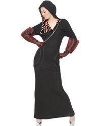 Jean Paul Gaultier Hooded Viscose Jersey Dress - Lyst