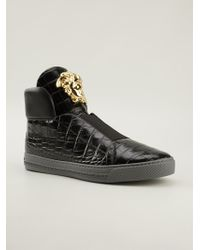 Versace Moc Croc Hitop Sneakers - Lyst
