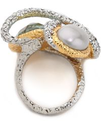 Alexis Bittar - Multi Stone Encrusted Vine Ring - Lyst