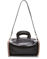 What Goes Around Comes Around Chanel Black Lambskin Hand Bag with Boucle Trim - Lyst