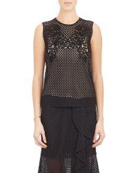 Erdem - Eyelet & Guipure Lace Naomi Top-Black Size 10 Uk - Lyst