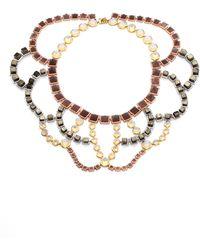 Eddie Borgo Estate Semi-Precious Multi-Stone Beaded Bib Necklace - Lyst