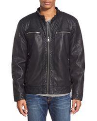 43ead6e8d Water Resistant Faux Leather Moto Jacket - Black