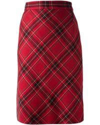 Clements Ribeiro - Bias Cut Tartan Skirt - Lyst