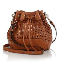 Rebecca Minkoff Fiona Small Perforated Bucket Bag - Lyst