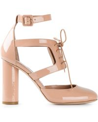 RED Valentino Cut Out Lace-Up Pumps - Lyst