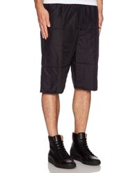 Oak Quilted Baggy Short - Lyst