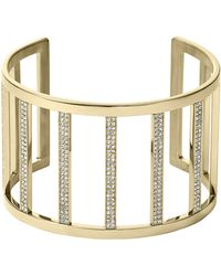 Michael Kors Wide Pave Bar Cuff - Lyst