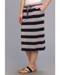 Allen Allen Stripe Skirt - Lyst