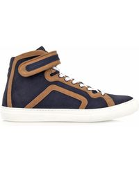 Pierre Hardy Suede High-Top Sneakers - Lyst
