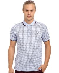Fred Perry Drakes Medallion Print Polo - Lyst