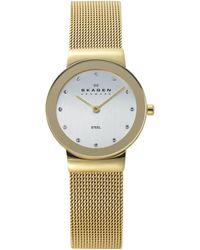 Skagen Women'S Gold Ion-Plated Stainless Steel Mesh Bracelet 26Mm 358Sggd - Lyst